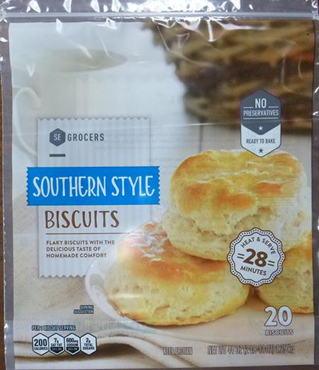 SE GROCERS SOUTHERN STYLE BISCUITS, 20 ct UPC 3825911892