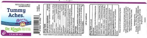 """Product label, Dr. Kings Tummy Aches, 2 fl oz"""