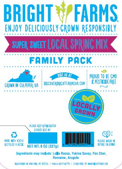 """Label, BrightFarms Spring Mix Family Pack"""
