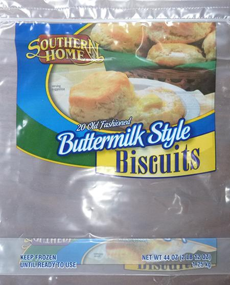 SOUTHERN HOME 20 OLD FASHIONED BUTTERMILK STYLE BISCUITS, 20 ct UPC 0788002640