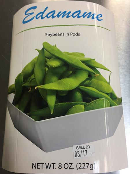 """Edamame, Soybeans in Pods, Net Wt. 8 oz (227g) package"""