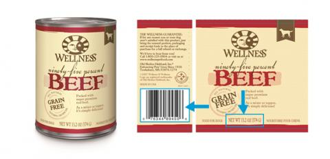 """Wellness 95% Beef Topper for Dogs 13.2 oz., UPC: 076344894506"""