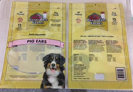 """Barnsdale Farms & 12-pack Pig Ears (UPC 6 72374 32712 2)"""