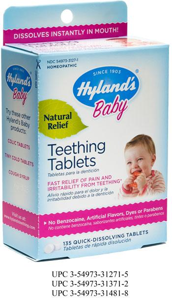 """Hyland's Baby Teething Tablets, 135 Quick-Dissolving Tablets"""