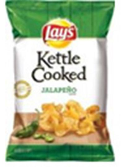 """Jalapeno Flavored Lay's Kettle Cooked potato chips Single Pack"""