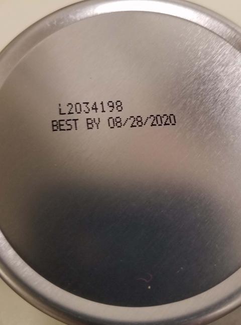 """Container Bottom: Lot- Expiration date"""