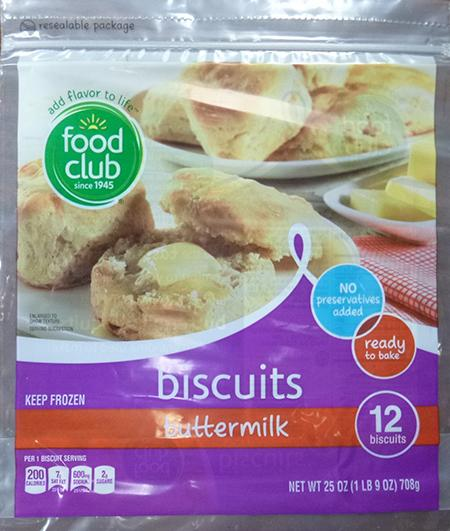 FOOD CLUB BUTTERMILK BISCUITS, 12 ct UPC 3680007549