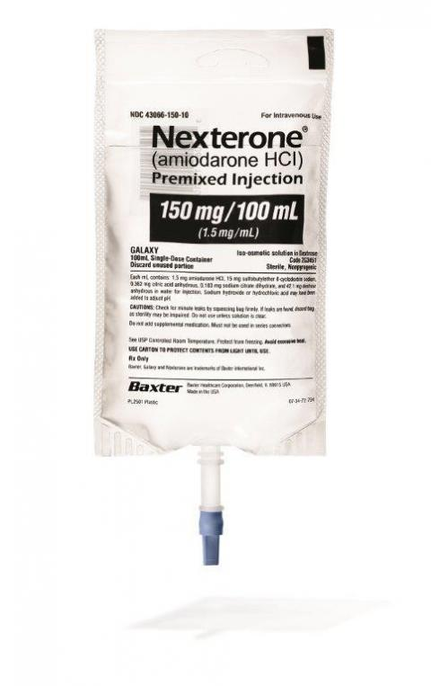 """NEXTERONE (amiodarone HCl) Premixed Injection, 150 mg/100 mL"""
