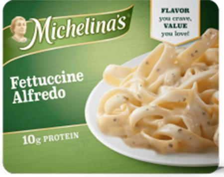 """Top Label, Michelina's Fettuccine Alfredo"""