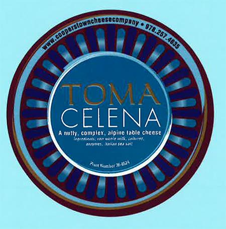 """Label, Toma Celena cheese"""