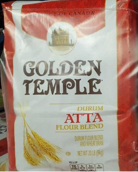 """Label, Golden Temple & Durum Atta Flour Blend"""