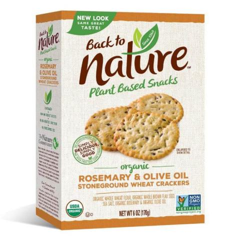 "Image of the Back to Nature Organic Rosemary & Olive Oil Stoneground Wheat Crackers package and the affected ""best by"" date"