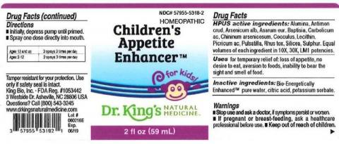 """Product label, Childrens Appetite Enhancer, 2 fl oz"""