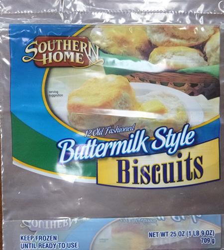 SOUTHERN HOME BUTTERMILK BISCUITS, 12 ct UPC 8826703152