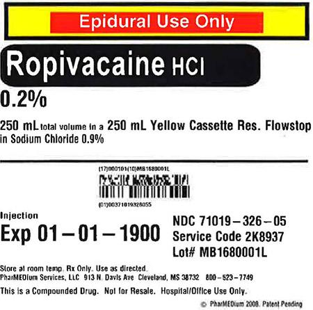 """0.2% Ropivacaine HCl (Preservative Free) in 0.9% Sodium Chloride"""