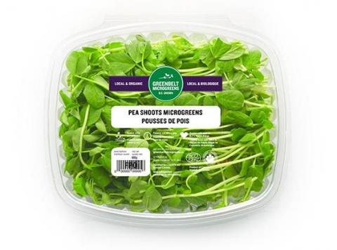 """Greenbelt Microgreens, Pea Shoots, 100 gm"""