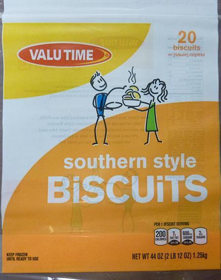 VALU TIME SOUTHERN STYLE BISCUITS, 20 ct UPC 1122503092
