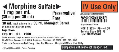 """1 mg/mL Morphine Sulfate (Preservative Free) in 0.9% Sodium Chloride"""