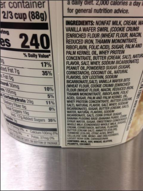 Ingredients List Side Label