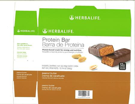 """Herbalife Protein Bar carton principal display panel"""
