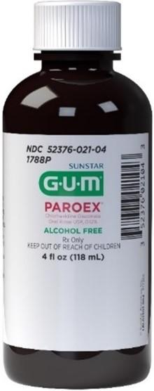 Picture of Paroex Chlorhexidine Gluconate Oral Rinse, 4 oz