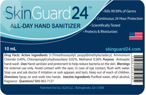 Image – SkinGuard24 All Day Hand Sanitizer, Spray Pocket Pen