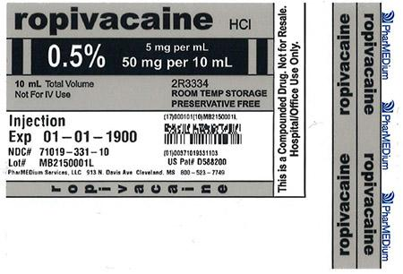 """0.5% Ropivacaine HCl Injection (Preservative Free)"""