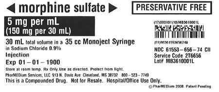 """5 mg/mL Morphine Sulfate (Preservative Free) in 0.9% Sodium Chloride"""