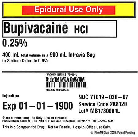 """0.25% Bupivacaine HCl (Preservative Free) in 0.9% Sodium Chloride"""
