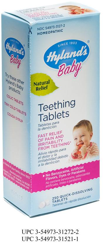 """Hyland's Baby Teething Tablets, 250 Quick-Dissolving Tablets"""
