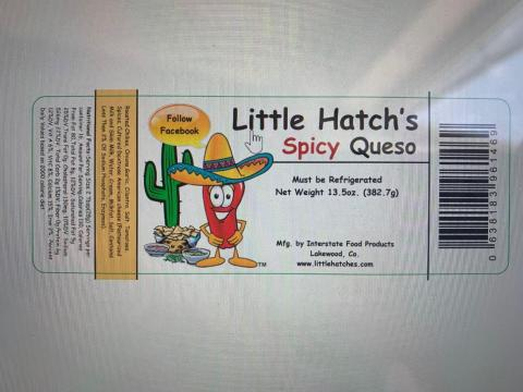 Little Hatch's Spicy Queso Dip UPC code 7051005091000