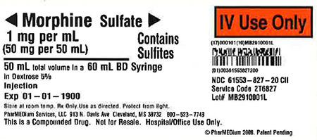 """1 mg/mL Morphine Sulfate (Preservative Free) (Contains Sulfites) in 5% Dextrose"""