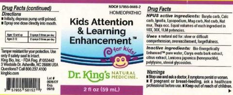 """Product label, Dr. Kings Attention & Learning Enhancement, 2 fl oz"""
