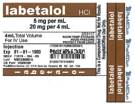 """5 mg/mL Labetalol HCI"""