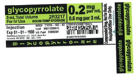 """0.2 mg/mL Glycopyrrolate 3 mL in 3 mL BD Syringe Kit Check Tagged"""