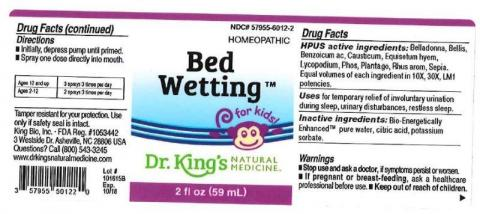 """Product label, Dr. Kings Bed Wetting, 2 fl oz"""