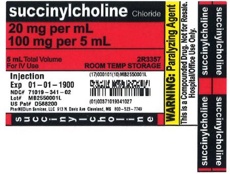 """20 mg/mL Succinylcholine Chloride Injection"""