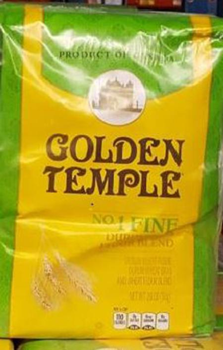 """Label, Golden Temple #1 Fine Durum Atta Flour Blend"""