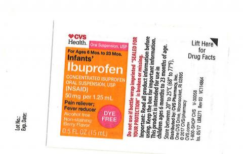 Carton Label Equate: Infants' Ibuprofen Concentrated Oral Suspension, USP, 50 mg per 1.25 mL, in 1.0 oz. bottle