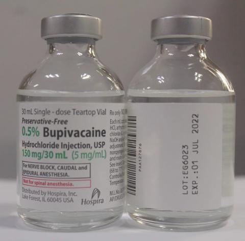 Product image Hospira 0.5% Bupivacaine Hydrochloride Injection, USP 30 mL