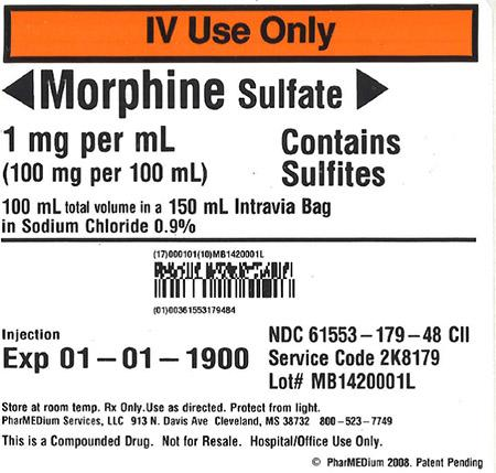 """1 mg/mL Morphine Sulfate in 0.9% Sodium Chloride"""