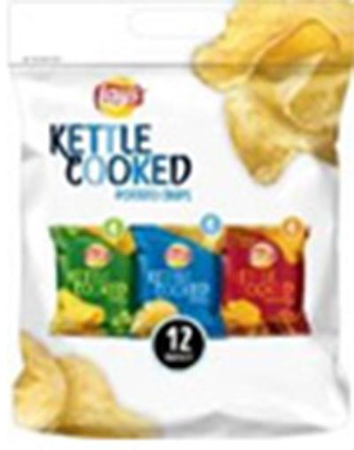 """12 count Lay's Kettle Cooked Multipack Sack, Containing Jalapeno Flavored Chips """