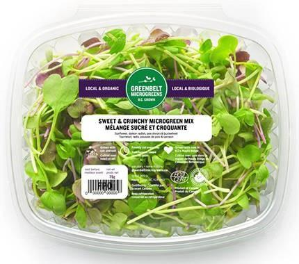 """Greenbelt Microgreens, Sweet & Crunchy Microgreen Mix, 75 gm"""