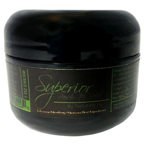 Superior Pain and Itch Cream in liquid gel