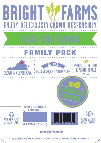 """Label, BrightFarms Baby Romaine Family Pack"""