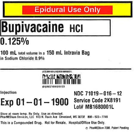 """0.125% Bupivacaine HCl (Preservative Free) in 0.9% Sodium Chloride"""