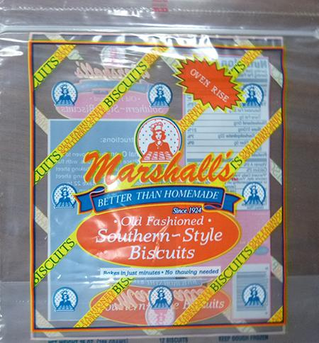 MARSHALLS OLD FASHIONED SOUTHERN STYLE BISCUITS, 12 ct UPC 7229200025
