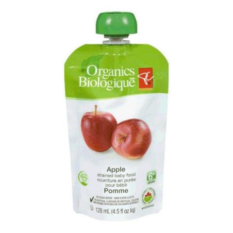 Apple - strained baby food
