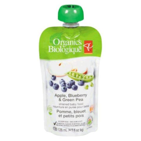 Apple, Blueberry & Green Pea - strained baby food