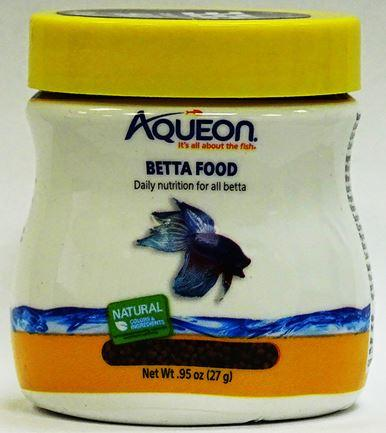 Front of package, Aqueon Betta Food, Lot EX05JUN22